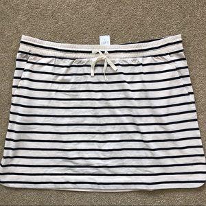 NWT Ann Taylor LOFT Navy striped Skirt XL